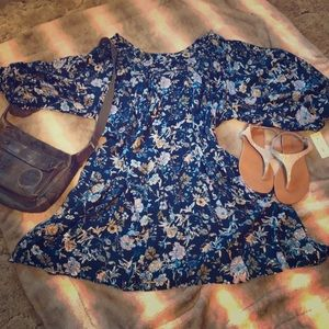Bnwt BOHO midi dress floral sz 3X